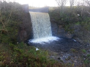 Waterfall top of Shielhill Glen